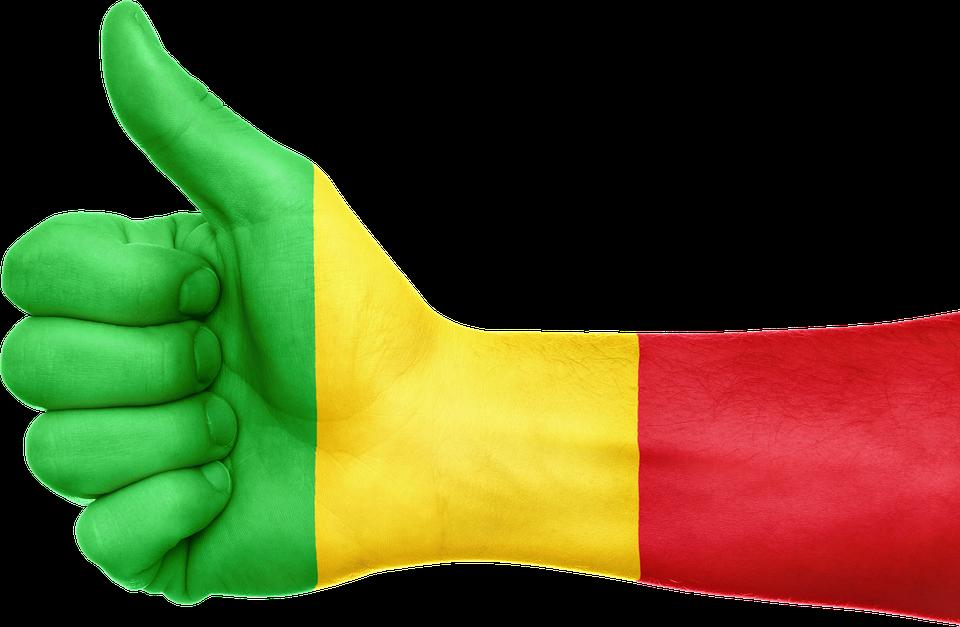 Vert Jaune Rouge Couleur du Drapeau de Mali